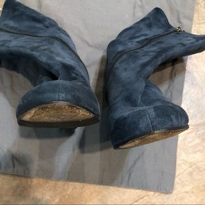 Taryn Rose Blue Suede Leather Boots Sz 39 / 9